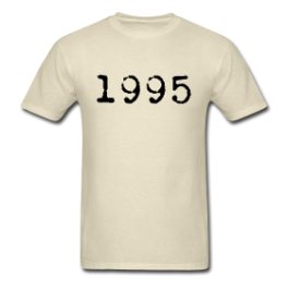 1995 mens tee by Michael Shirley
