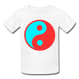 3-D Yin Yang kids tee by Michael Shirley