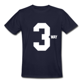 3way mens tee by Michael Shirley