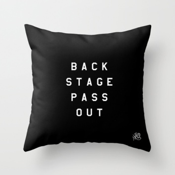 Backstage Pass Out plush by Michael Shirley