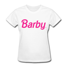 Barby Doll womens tee by Michael Shirley