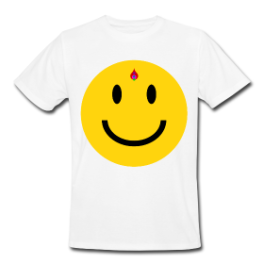 Bindi Smiley mens tee by Michael Shirley