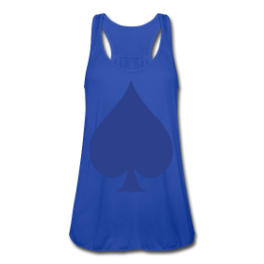 Blueberry Spade womens tank top by Michael Shirley