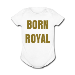 Born Royal baby romper by Michael Shirley