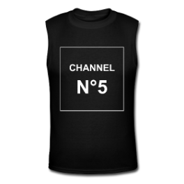 Channel N°5 (black) tank tee by Michael Shirley