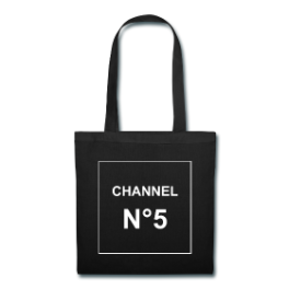 Channel N°5 tote bag by Michael Shirley