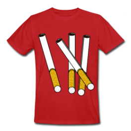 Cigarettes mens tee by Michael Shirley