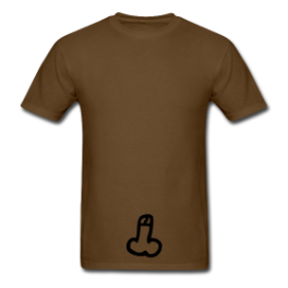 Cock It (chocolate) mens tee by Michael Shirley