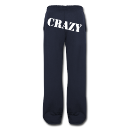 Crazy mens sweatpants by Michael Shirley