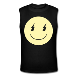 Death Metal Smiley tank tee by Michael Shirley