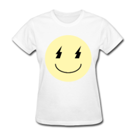 Death Metal Smiley womens tee by Michael Shirley