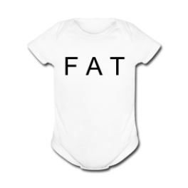 Fat Baby baby romper by Michael Shirley