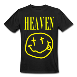 Heaven mens tee by Michael Shirley