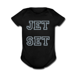 Jet Set baby romper by Michael Shirley