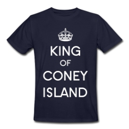 King Of Coney Island mens tee by Michael Shirley