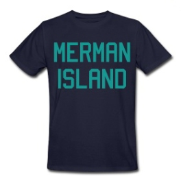Merman Island mens tee by Michael Shirley