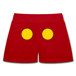 Mickey womens shorts by Michael Shirley