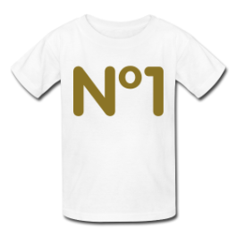N°1 kids tee by Michael Shirley