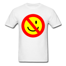 No Smiling mens tee by Michael Shirley