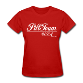 Pill Town USA womens tee by Michael Shirley