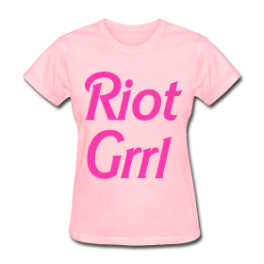 Riot Grrl womens tee by Michael Shirley