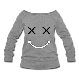 RIP Smiley oversized womens pullover by Michael Shirley