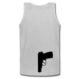 Secret Agent mens tank top by Michael Shirley