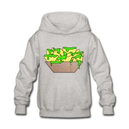 Slime Nachos kids hoodie by Michael Shirley