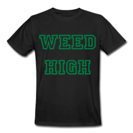 Weed High School mens tee by Michael Shirley