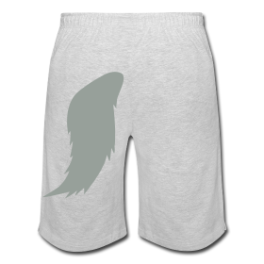 Werewolf (gray) mens shorts by Michael Shirley