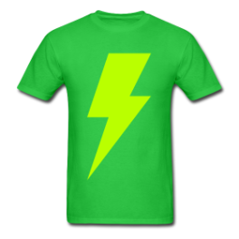 Wild Lightning mens tee by Michael Shirley