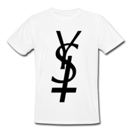 Y S Hell mens tee by Michael Shirley